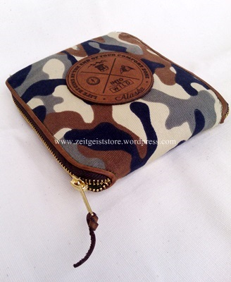 army folding bag with leather