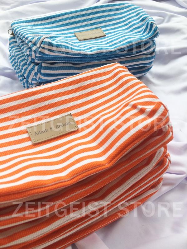 kanvas stripes, stripes canvas, pouch kanvas, dompet kanvas, souvenir kithanan jogja